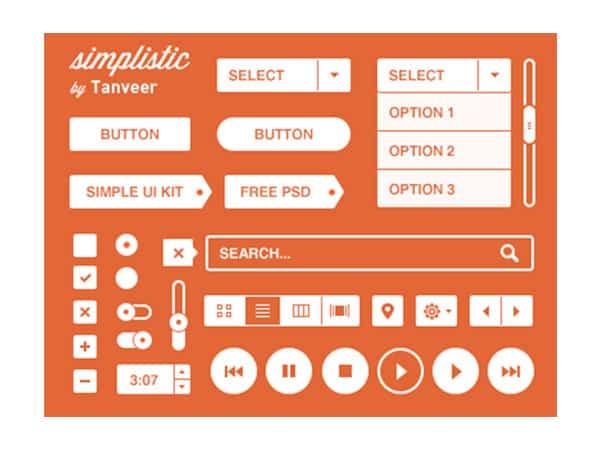 Simple Free Photoshop UI Kit