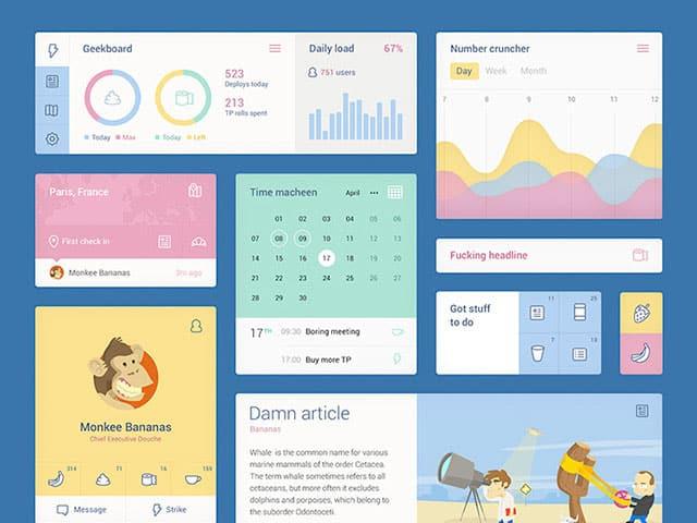 Free UI Kits: colorful-ui-kit-psd