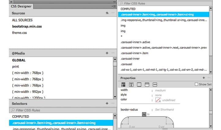 Dreamweaver 2014 New Features: CSS Designer