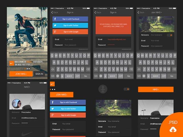 Free UI Kits: login-ui-kit-for-iOS