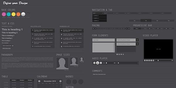 Midnight Free Photoshop UI Kit