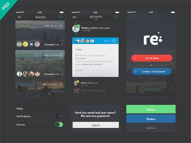 Free UI Kits: re-free-ui-kit
