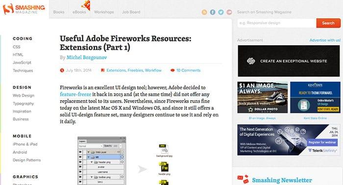 smashing magazine: Learn Web Design