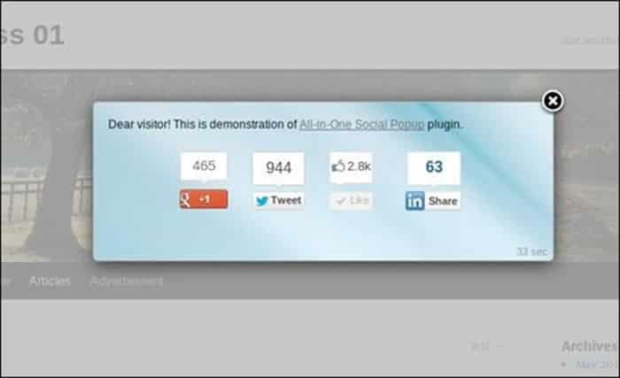 using popups on your website: no social media popups