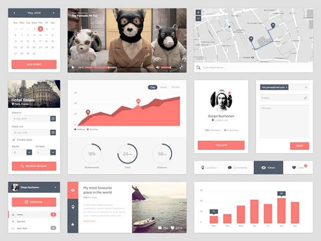 Free UI Kits: widgets-Ui-kit