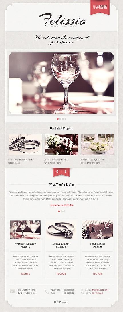 Wedding Planner Facebook Template