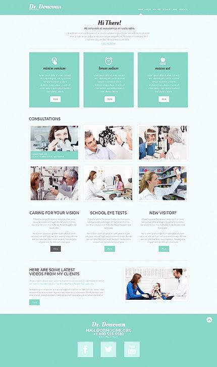Optometrist's WordPress Theme