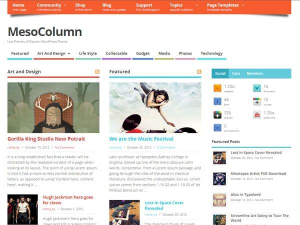 MesoColumn Free WordPress Themes