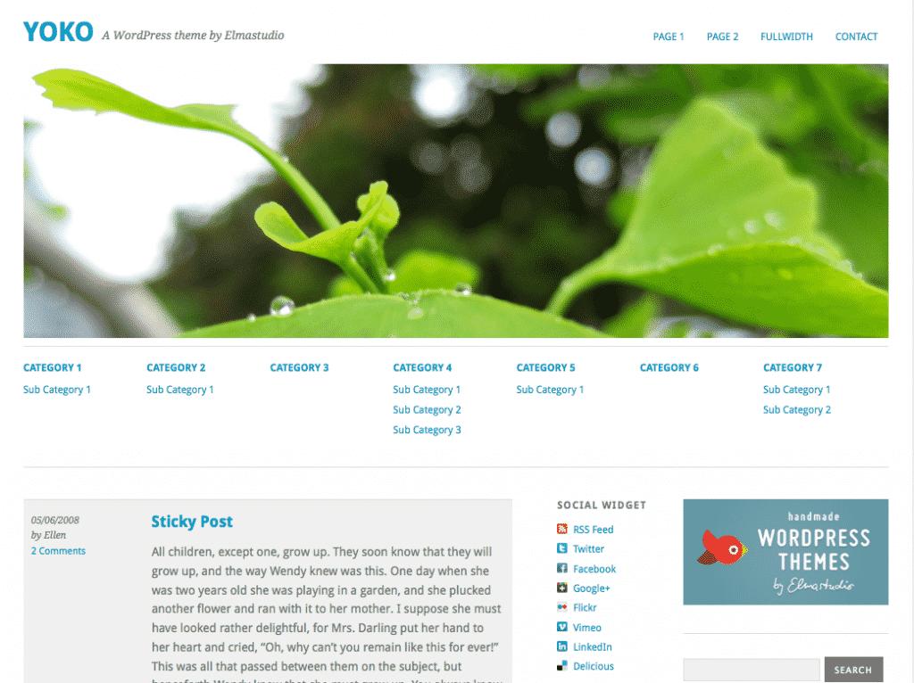yoko free responsive WordPress theme