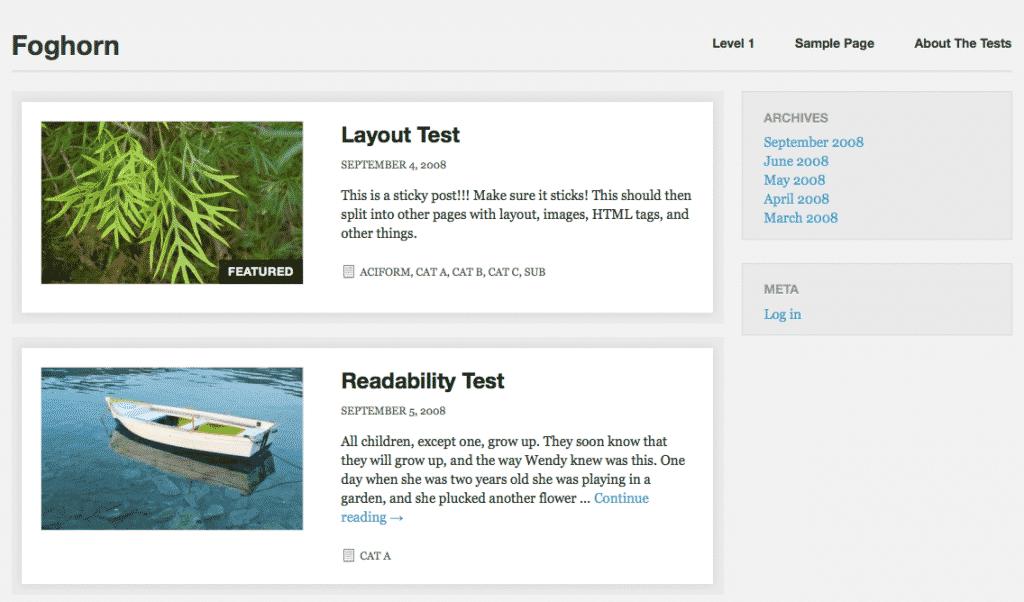 Foghorn free responsive WordPress Themes