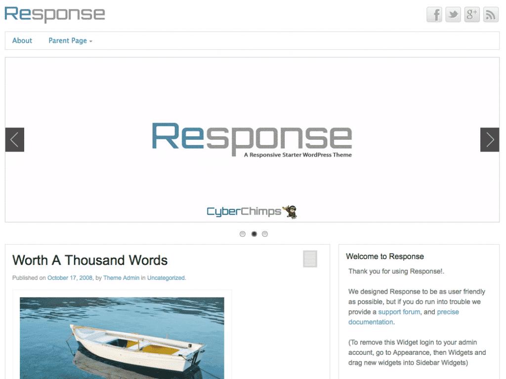 Response Free Responsive WordPress Theme