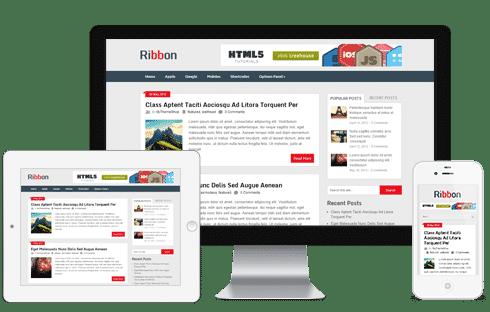 Ribbon Free WordPress Theme