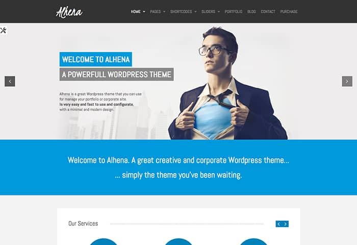 Alhena: Best Free WordPress themes 2014