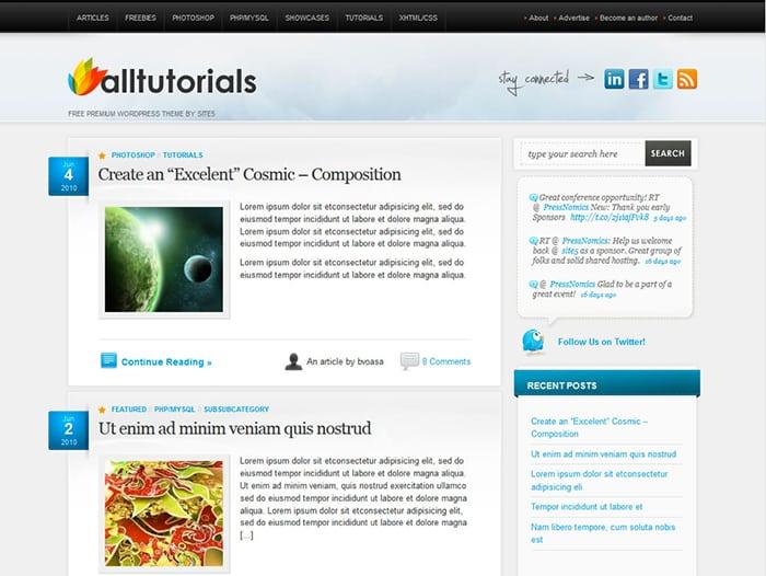 Alltuts: Best Free WordPress themes 2014