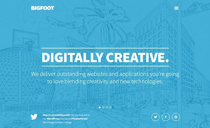 Bigfoot: Best Free WordPress Themes 2014