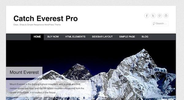 Free WordPress Themes Catch-everest