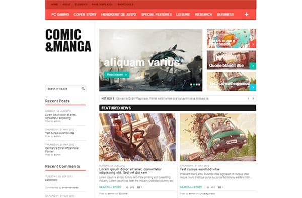 comic-&-Manga Free WordPress Theme