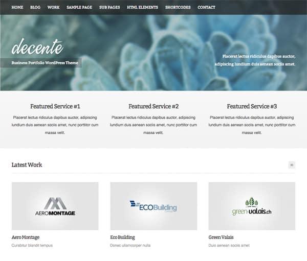 Decente: Best Free WordPress Themes 2014