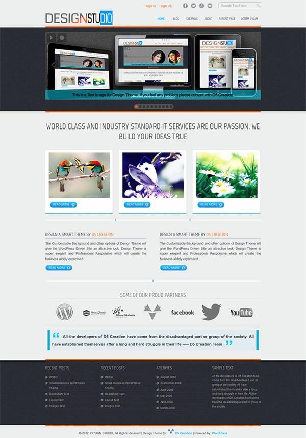 Free WordPress Themes Designstudio