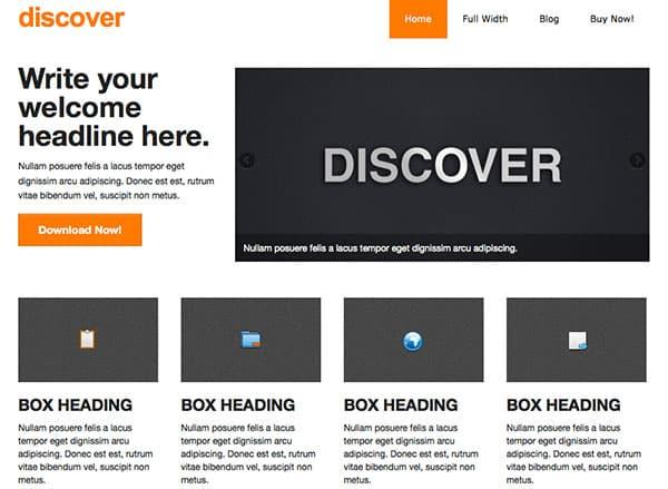 discover Free WordPress Theme