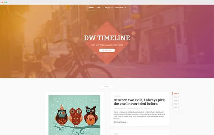 DW Timeline: Best Free WordPress Themes 2014