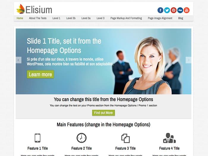 Elisium: Best Free WordPress Themes 2014
