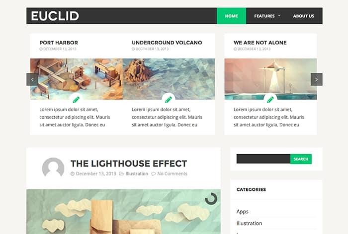 Euclid: Best Free WordPress Themes 2014
