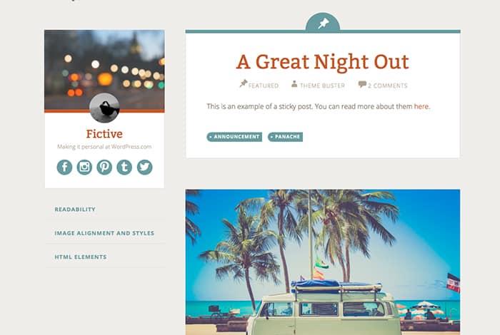 Fictive: Best Free WordPress themes 2014