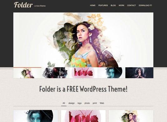 Folder: Free Responsive WordPress Portfolio Themes