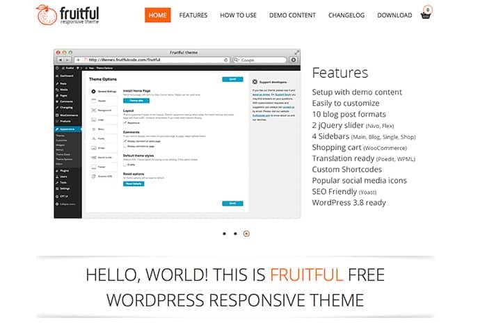Fruitful: Best Free WordPress Themes 2014