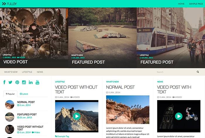 Fullby: Best Free WordPress themes 2014