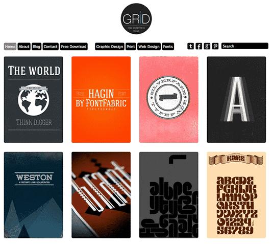 Grid: Free Responsive WordPress Portfolio Themes