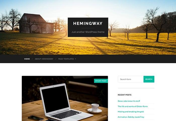 Hemmingway: Best Free WordPress themes 2014