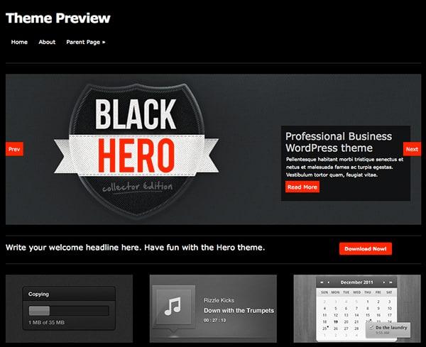 Free WordPress Themes Hero
