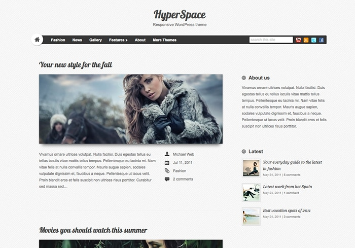 Hyperspace: Best Free WordPress themes 2014