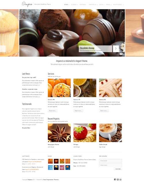 Impero: Free Responsive WordPress Portfolio Themes