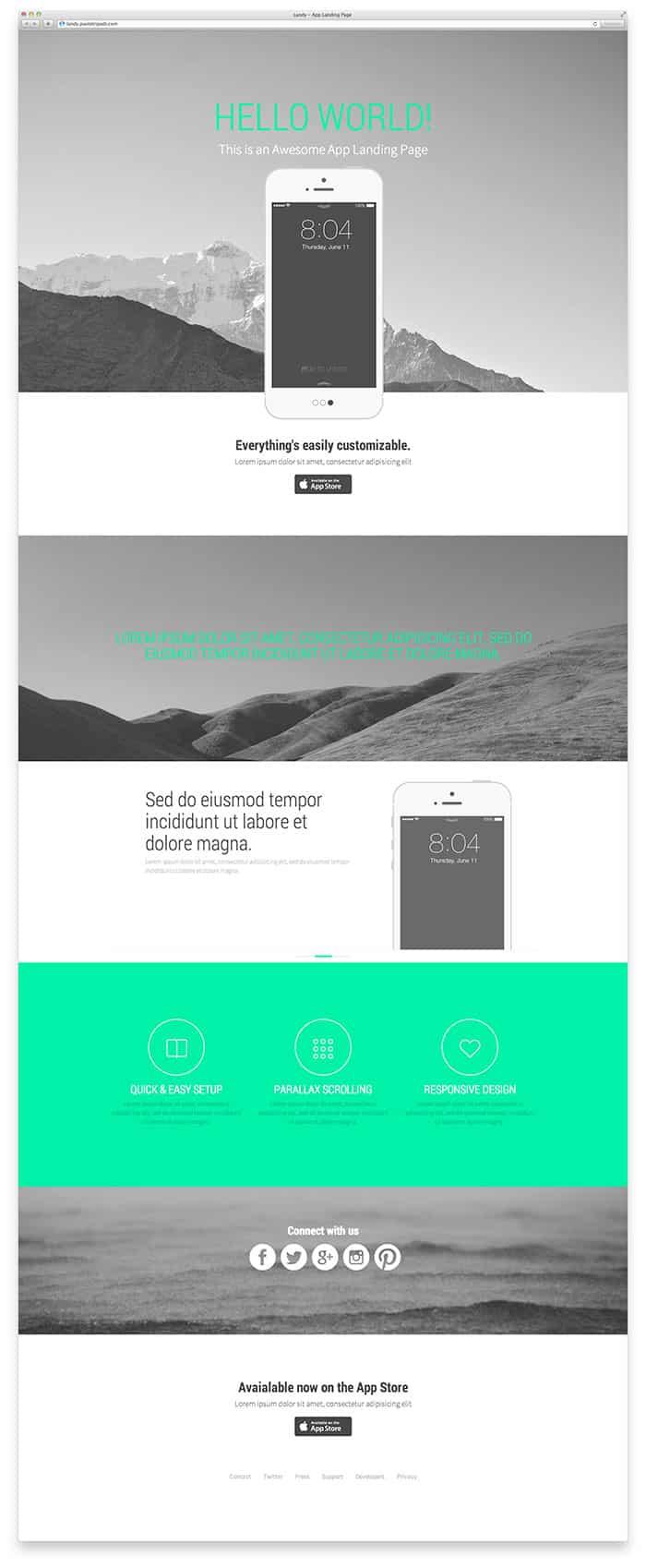 Landy: Landing page templates