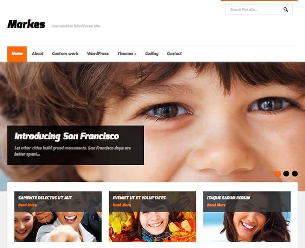 markes Free WordPress Theme