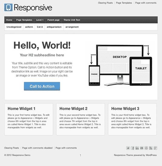 Responsive: Free WordPress Themes