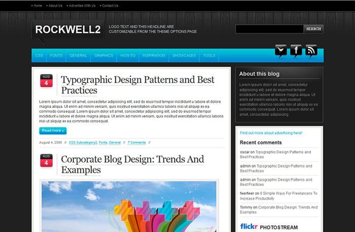 Rockwell 2: Best Free WordPress themes 2014