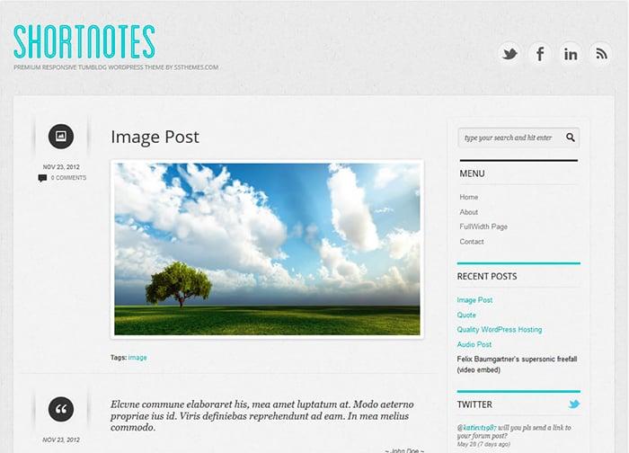 Shortnotes: Best Free WordPress themes 2014