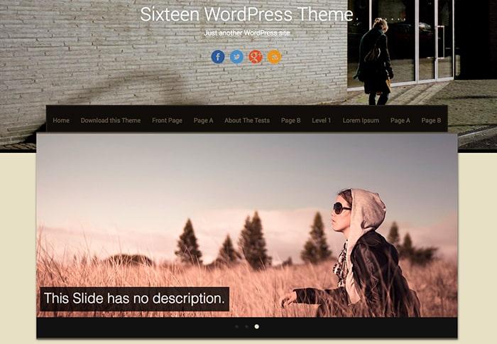 Sixteen: Best Free WordPress themes 2014