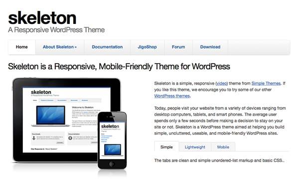 Free WordPress Themes Skeleton