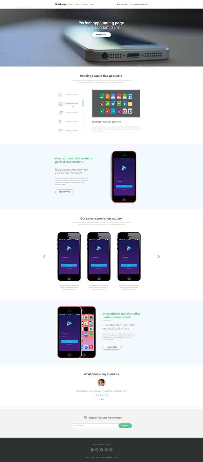smart app landing page templates