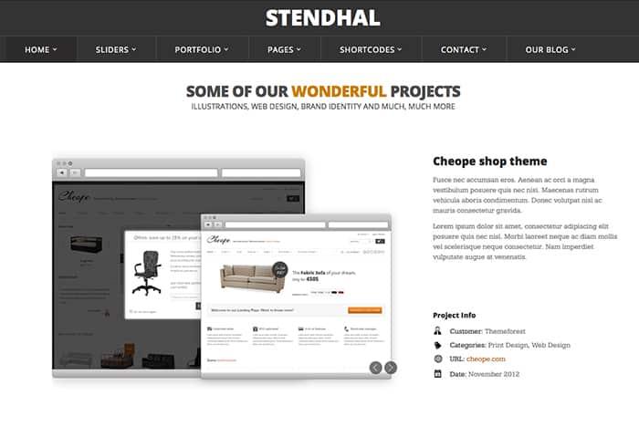 Stendhal: Best Free WordPress Themes 2014