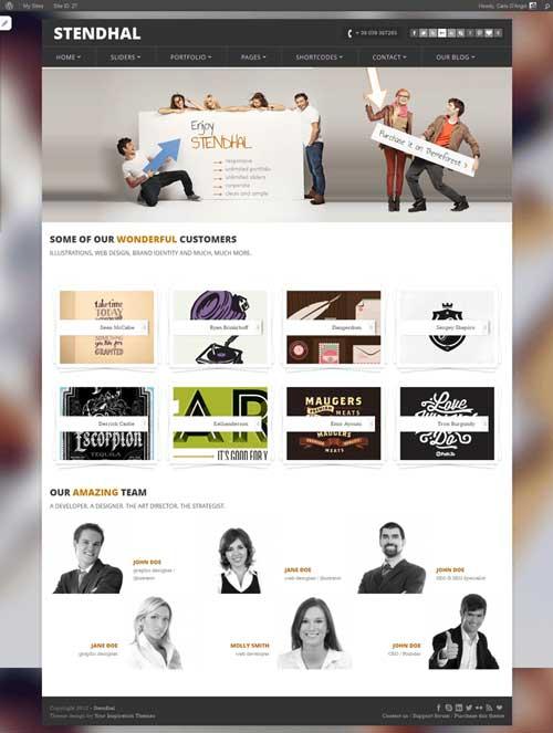 Stendhal: Free Responsive WordPress Portfolio Themes