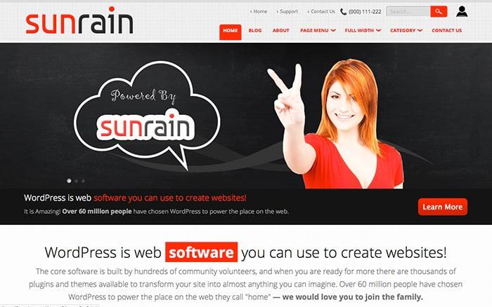 Sunrain: Best Free WordPress themes 2014