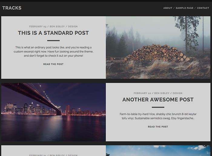 Tracks: Best Free WordPress Themes 2014