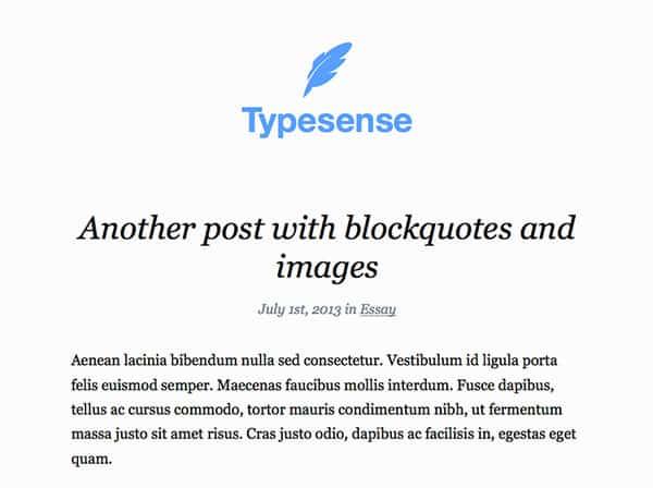typesense Free WordPress Theme