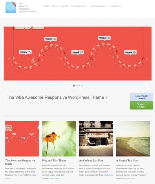 vFlex: Free Responsive WordPress Portfolio Themes